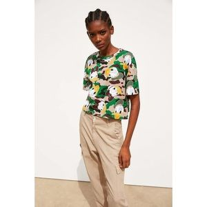 ZARA x Disney Donald Duck Camo Crop Top